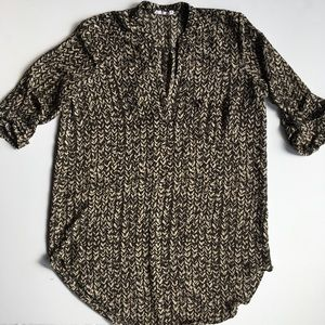 LUSH roll tab sleeve tunic shirt